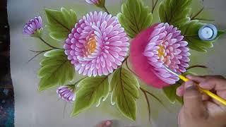 Pintando Crisantemos.