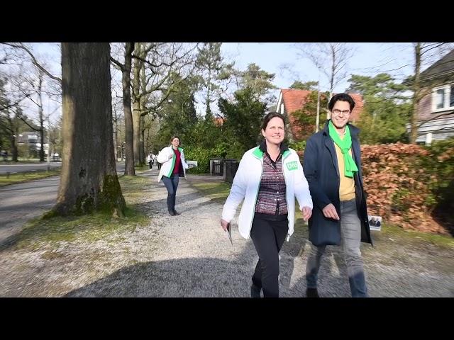 D66 Zeist krijgt  flyersupport in Kerckebosch.