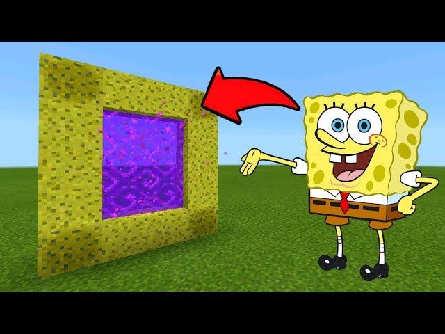 Minecraft Pe How To Make a Portal To The SpongeBob Dimension - Mcpe Portal To The SpongeBob!!!