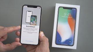 Apple iPhone X: Ersteinrichtung & Face ID-Setup | deutsch