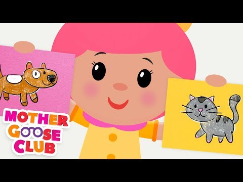 NEW Animal Sounds Song | Simple Songs for Kids by Mother Goose Club | Animated Songs for Children