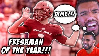 The Top *FRESHMAN* Quarterback In The Country!!!- Sam Haurd Highlights [Reaction]