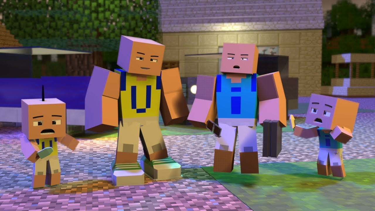 Upin & Ipin 2019 - Dah Besar Part 1 - 3 ( Minecraft Animation )