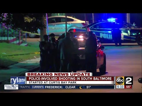 Suspect injured in south Baltimore police-involved shooting