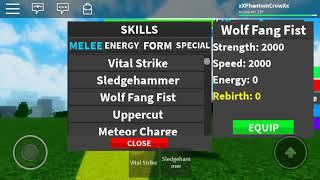 Roblox Dragon Ball Ultimate All Melee MOVES SHOWCASE!