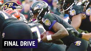 Greg Roman on Lamar Jackson Avoiding Big Hits While Scrambling | Ravens Final Drive