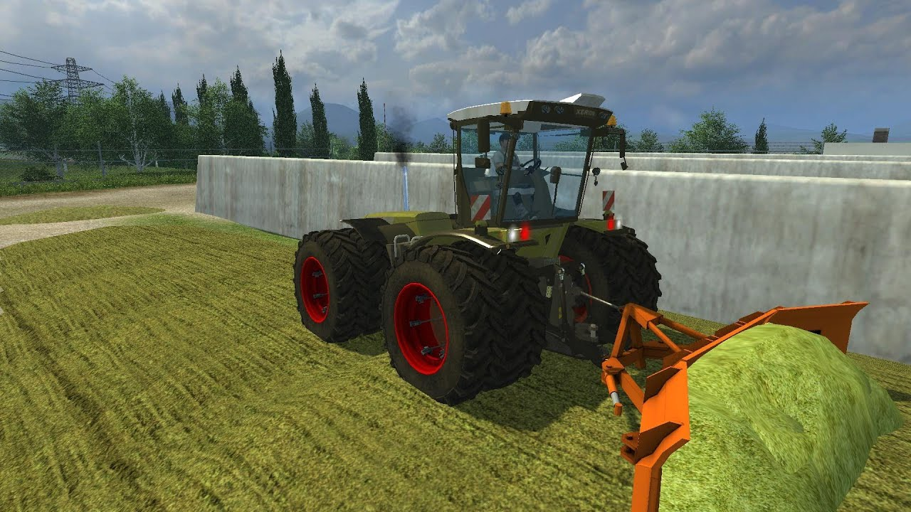Farming simulator 2013 alternative tipping mod xerion 3800 trac vc compattamento insilato youtube