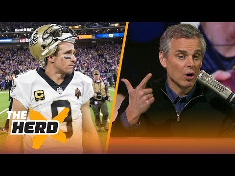 Colin Cowherd talks Drew Brees, Case Keenum's potential fits in NFL free agency | THE HERD