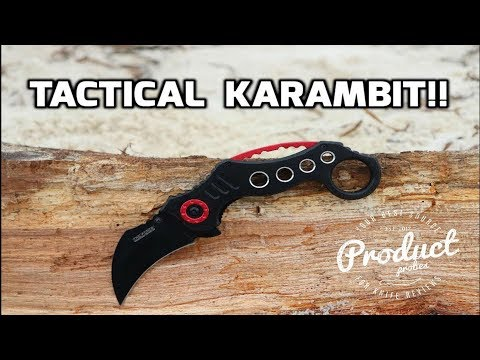 TAC FORCE Pocket Knife BLACK Blade KARAMBIT Tactical Knife Review TF-578BK