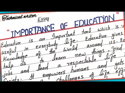 the importance of education essay writing