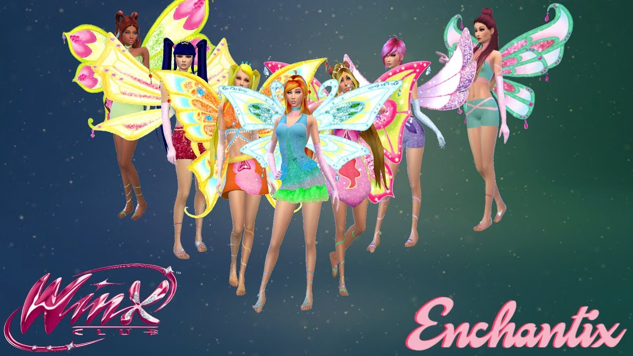 Winx Club 3-D Enchantix Transformation with Roxy (Nick Dub) – The Sims 4 | CC Linked Below