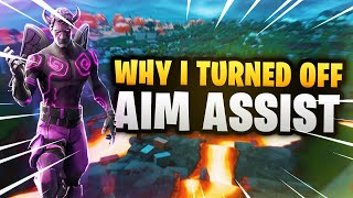 Why I Turned Off Aim Assist On My Controller (BEST Way to Warmup in Fortnite) Settings Change