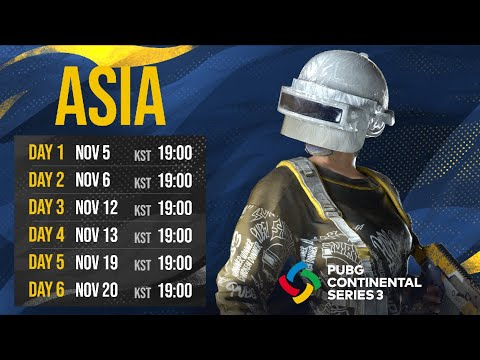 PUBG Continental Series 3: ASIA DAY1