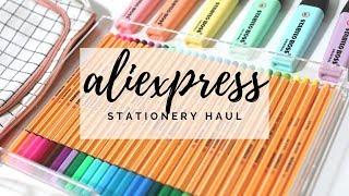 Huge aliexpress stationery haul ✨ back to school