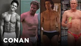 "The Cast Of ""Daddy's Home 2"" In Their Underwear  - CONAN on TBS"