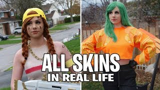 Fortnite All Skins in Real Life! (Sunbird , Aura , Arachne , Valkyrie)