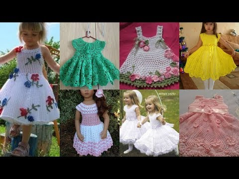 Very Beautiful & Today S Trending Fashion Of Crochet Wool Baby Frock / Baby Top