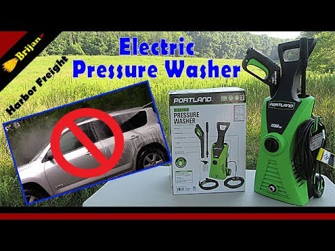 70 Harbor Freight Electric Pressure Washer Youtube