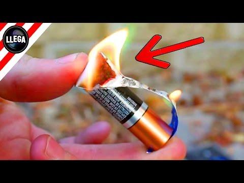 ✔ Como Hacer Fuego Chicle + Pila AAA = Fuego | Supervivencia