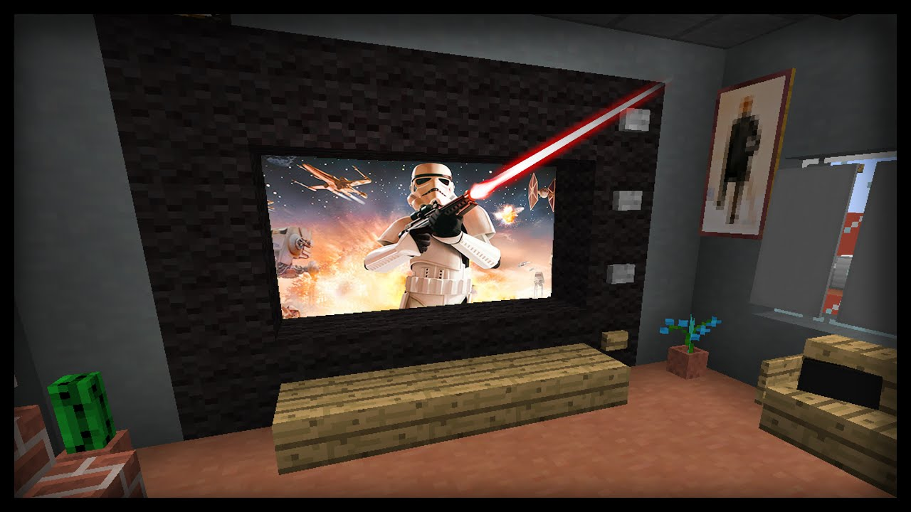 minecraft how to make a working tv with multiple