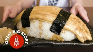 Eating Japans Biggest Sushi