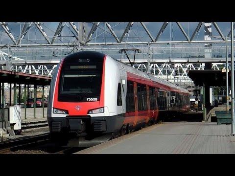 Oslo Sentralstasjon mit/med NSB FLIRT, SJ X2000, BM 69, 70, 72, Flytoget, Godstogene, Tram/Trikk