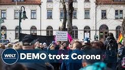 IN DRESDEN IST ALLES ERLAUBT: Ordnungsamt genehmigt  Pegida-Demo trotz Corona