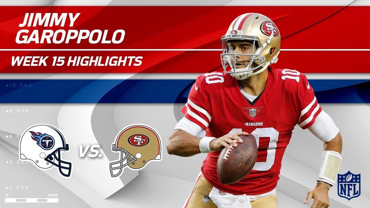 Jimmy Garoppolo Highlights   Titans vs. 49ers   NFL Wk 15 ... Jimmy Garoppolo Patriots Highlights