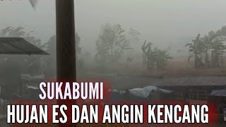 Hujan disertai angin kencang melanda kawasan sukabumi dan sekitarnya    minggu 13 juni 2021