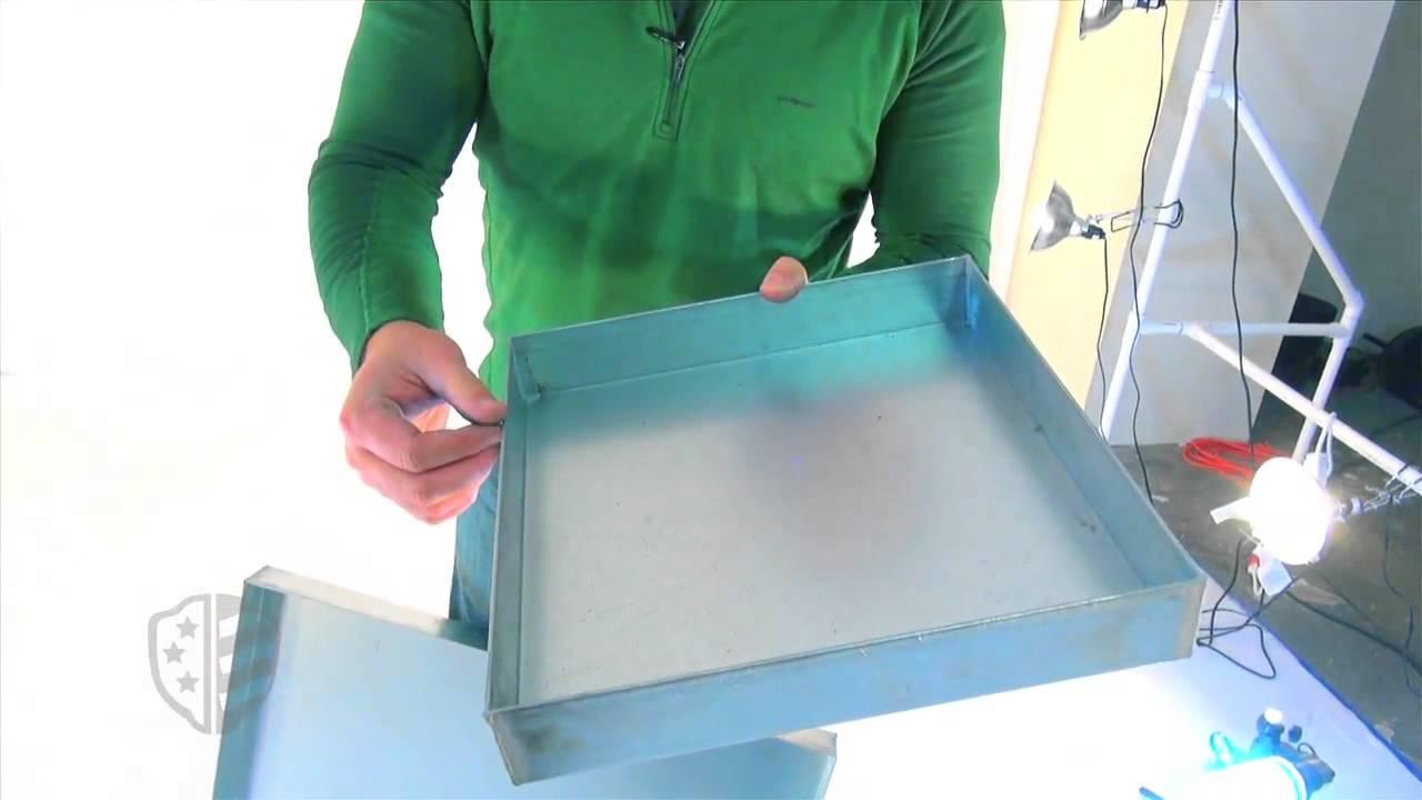how to clean metal drip pans
