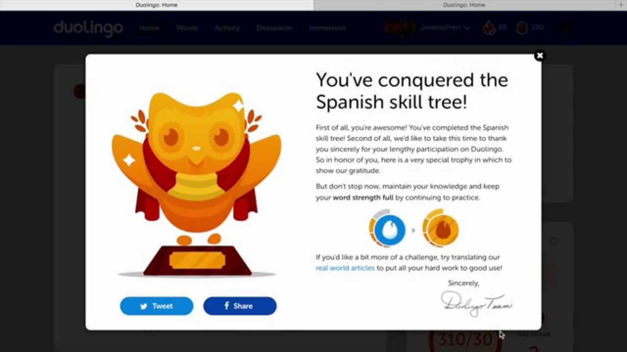 how to use duolingo tree