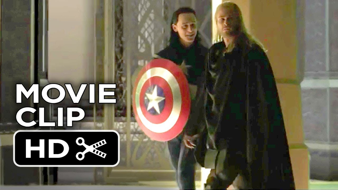 thor: the dark world bonus clip - loki plays captain america (2013