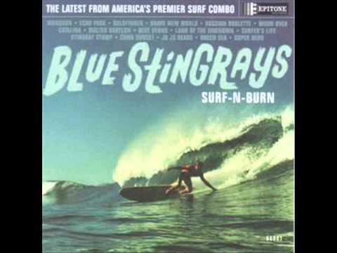 Blue Stingrays-Green Sea