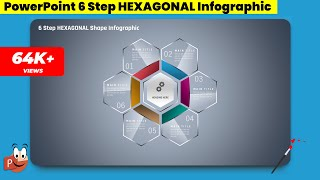 18.Create 6 Step HEXAGONAL Infographic/PowerPoint Presentation/Graphic Design/Free Template