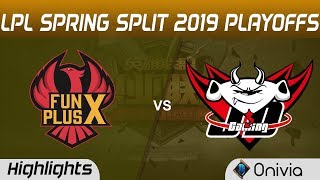 FPX vs JDG Highlights Game 5 LPL Spring 2019 Playoffs FunPlus Phoenix vs JD Gaming LPL Highlights by