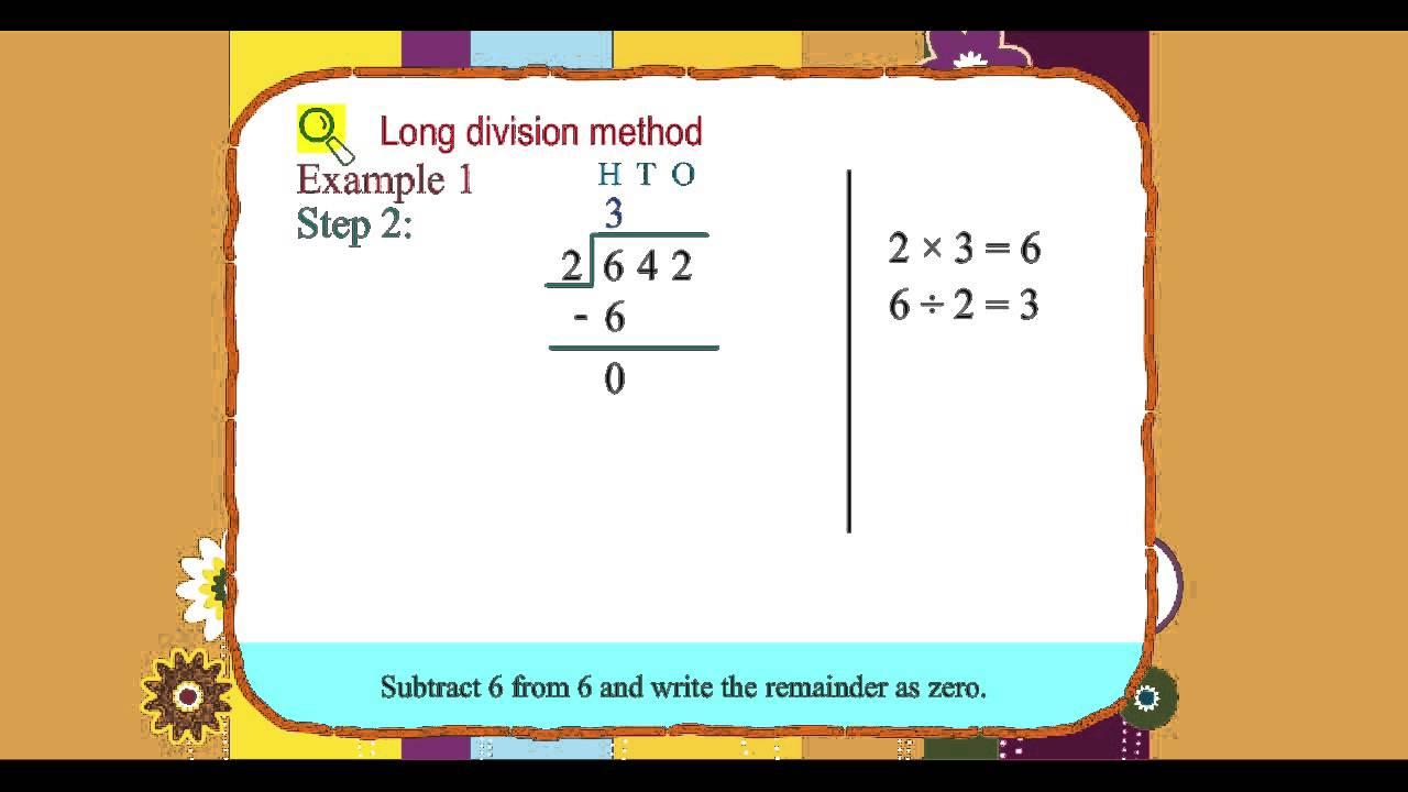 Explore Math Class 3, Unit 07, 07 Long division method - YouTube