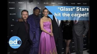 Glass: James McAvoy and co-stars brave the cold!