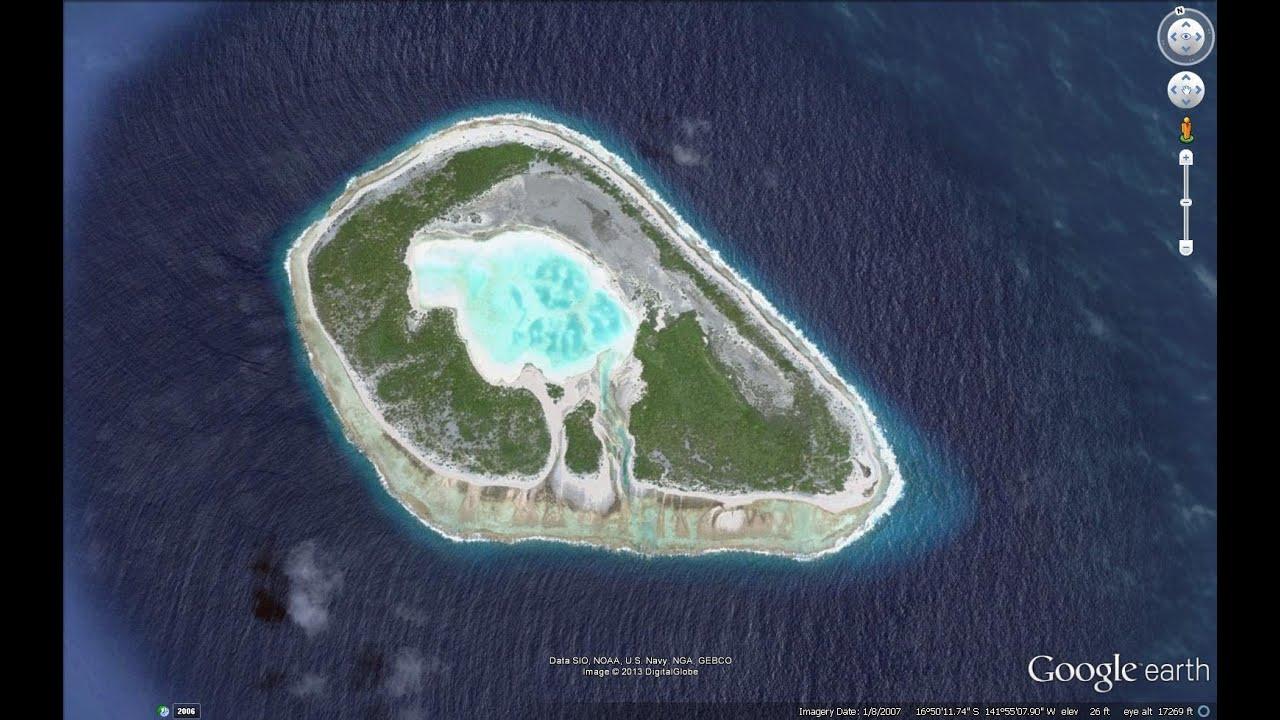Plastic Island Pacific Google Earth