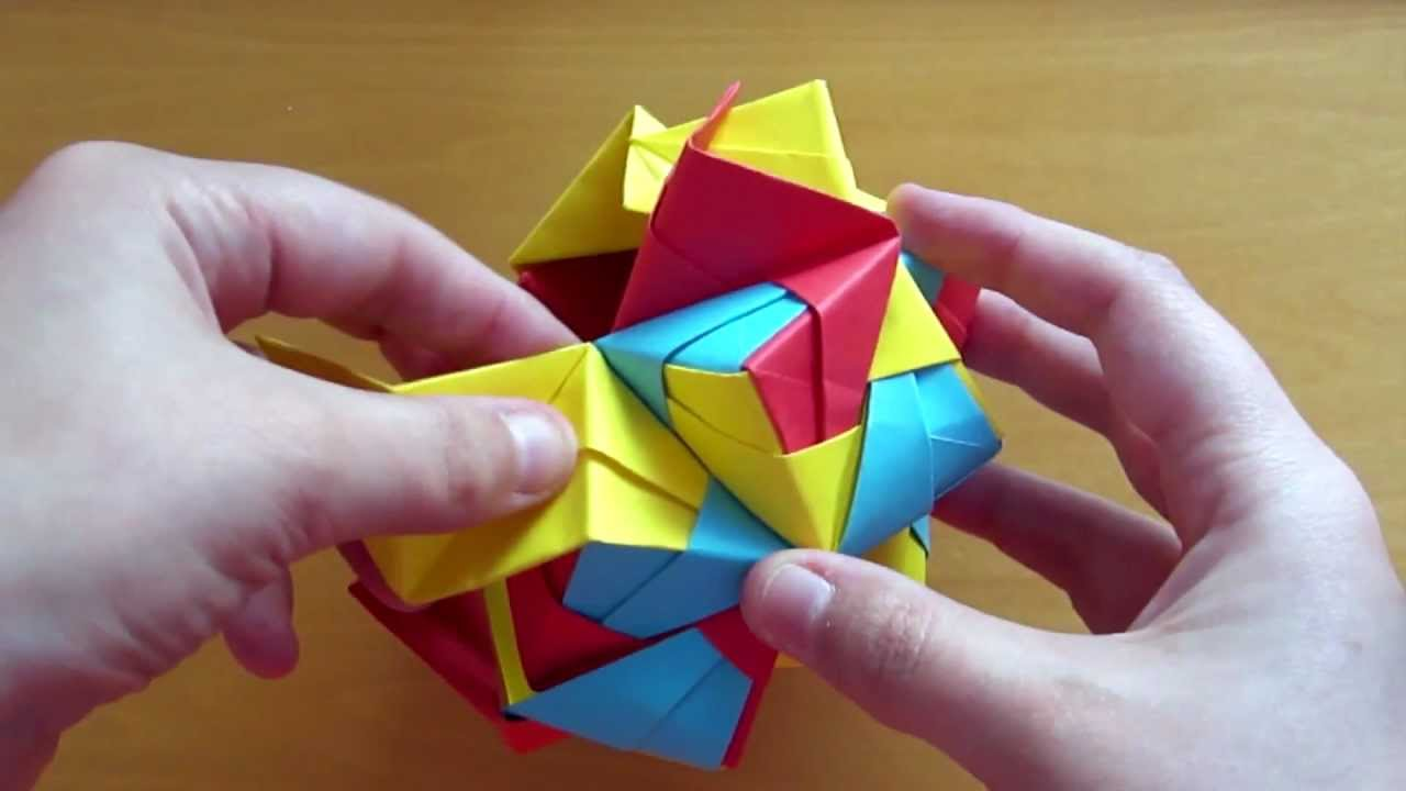Modular origami icosahedron made from 270 used sticky notes ... | 720x1280