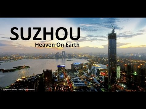 Suzhou, China - Aerial footage