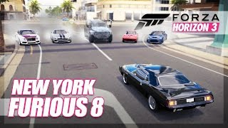 Forza Horizon 3 - The Fate of The Furious Recreation! (New York Chase)