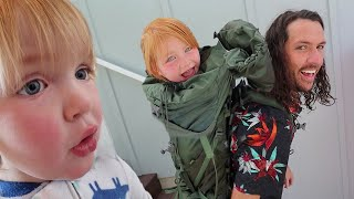 What's inside my Backpack??  Adley & Niko make a backyard surprise, morning routine on Father's day!