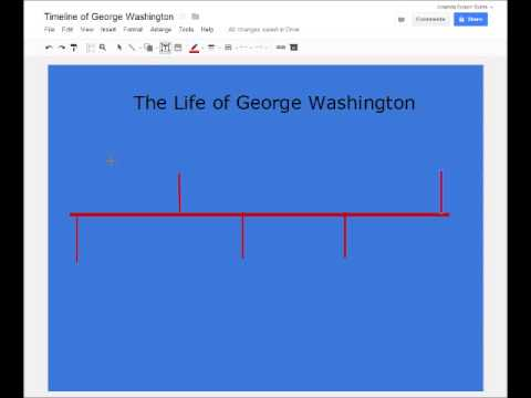 Creating a Timeline using Google Drawing - YouTube