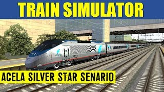 Train Simulator 2013 Game Play Amtrak Acela Express Silver Star Full Senario HD