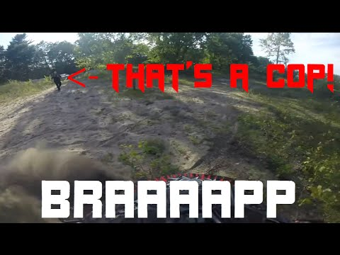 Thumbnail: Amazing police chase!! Father and son on quads escape from cops!