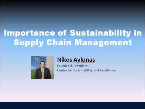 Importance of Sustainability in the Supply Chain