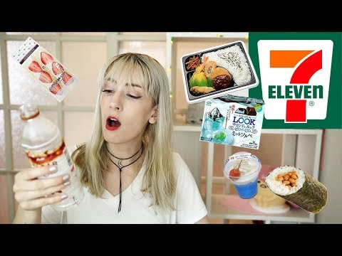 Eating Japanese 7-11 for 24 hours! (Vegetarian)