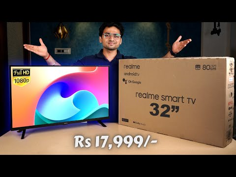 """realme Smart TV 32"""" Full HD Unboxing & Review   24W Speakers With Dolby Audio ⚡️@ Rs 17,999/-"""