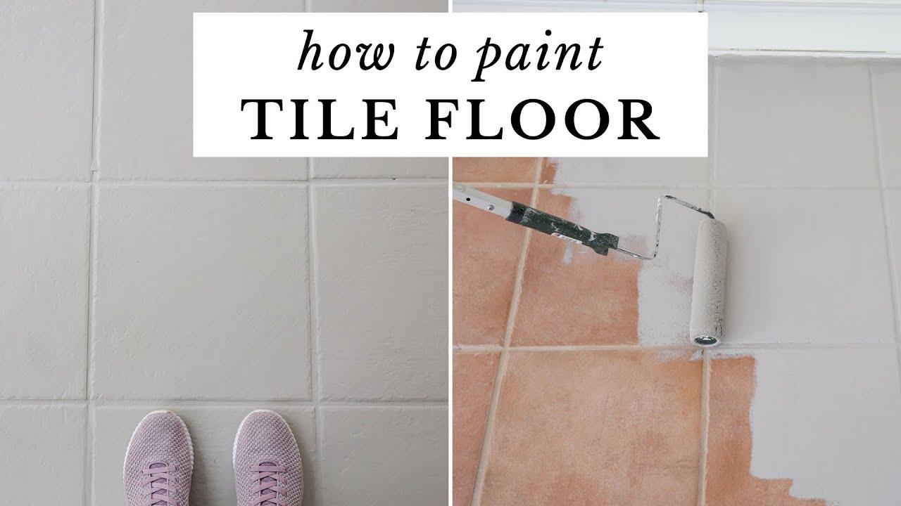 How To Paint Tile Floor Painting, Painting Floor Tiles Bathroom