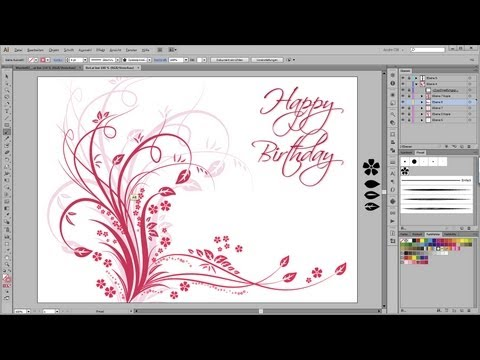 adobe-illustrator-tutorial---floral-happy-birthday-postcard